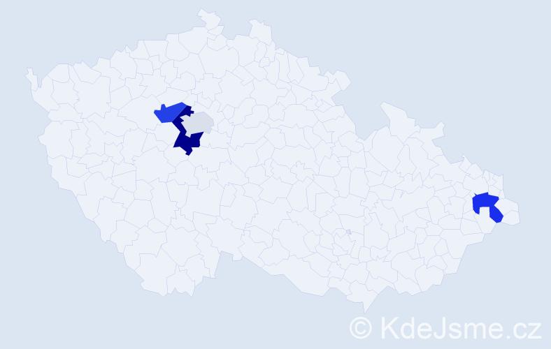 Příjmení: 'Coka', počet výskytů 8 v celé ČR