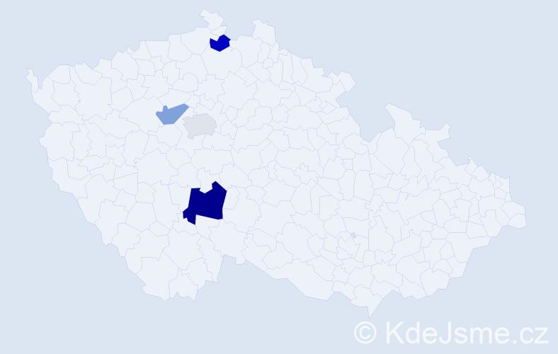Příjmení: 'Cardoso', počet výskytů 6 v celé ČR