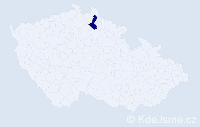 Příjmení: 'Bočok', počet výskytů 8 v celé ČR