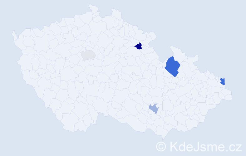 Příjmení: 'Jankowski', počet výskytů 8 v celé ČR