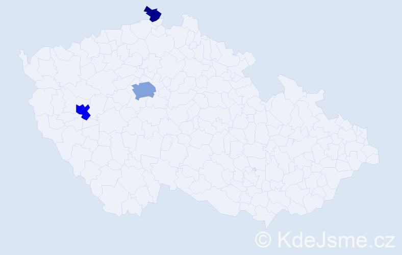 Příjmení: 'Čmelínský', počet výskytů 9 v celé ČR