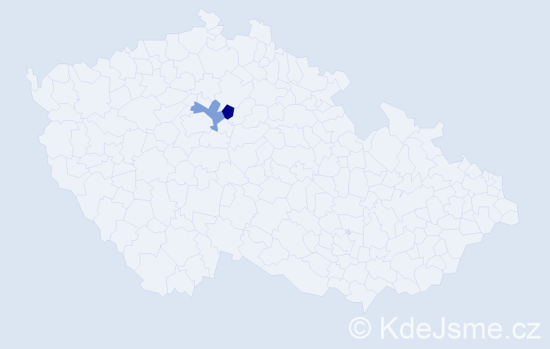Příjmení: 'Církovská', počet výskytů 2 v celé ČR