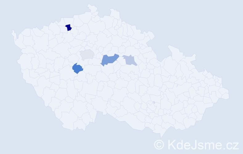 Příjmení: 'Eimanová', počet výskytů 8 v celé ČR