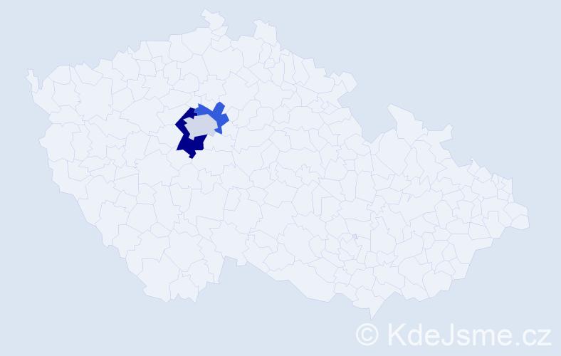 Příjmení: 'Dexter', počet výskytů 4 v celé ČR