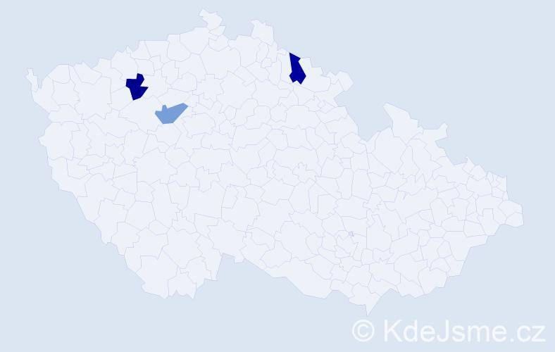 Příjmení: 'Karadžová', počet výskytů 3 v celé ČR