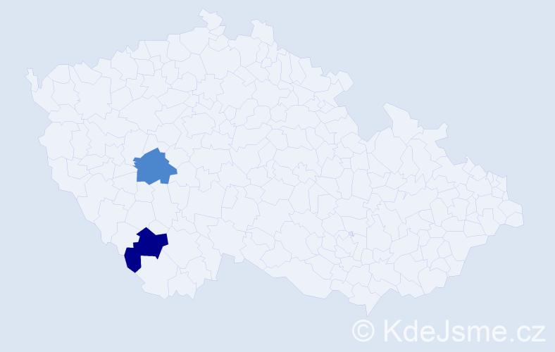 Příjmení: 'Kolmarová', počet výskytů 2 v celé ČR