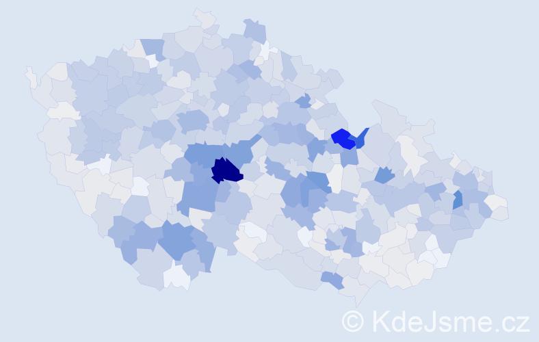 Příjmení: 'Filip', počet výskytů 3526 v celé ČR