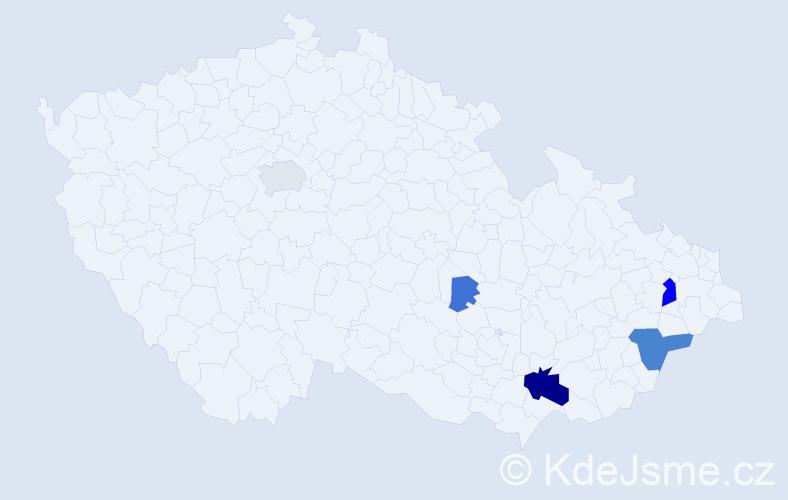 Příjmení: 'Horatius', počet výskytů 14 v celé ČR