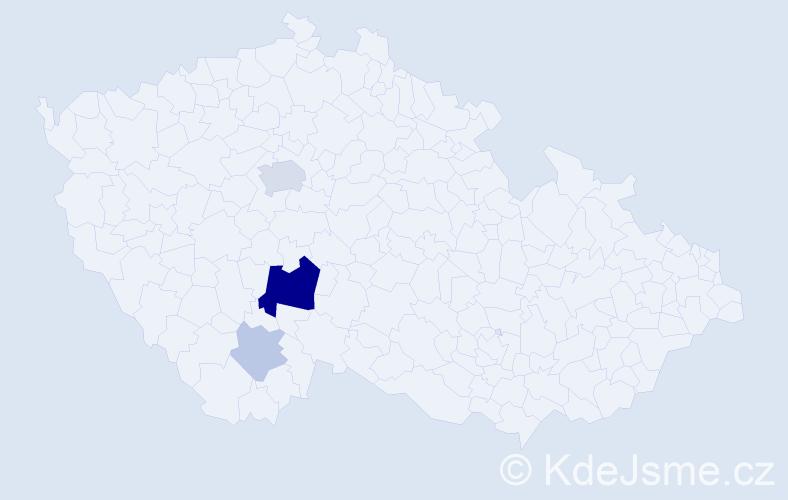 Příjmení: 'Gril', počet výskytů 10 v celé ČR