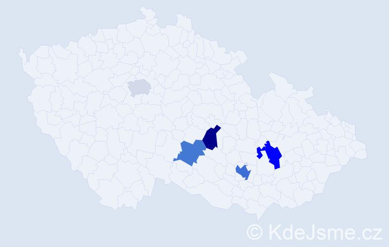 Příjmení: 'Konzbulová', počet výskytů 15 v celé ČR