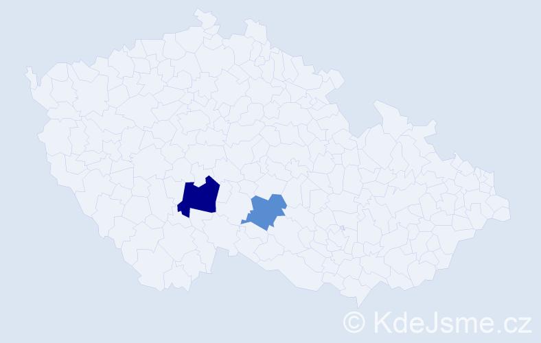 Příjmení: 'Cecchinato', počet výskytů 6 v celé ČR
