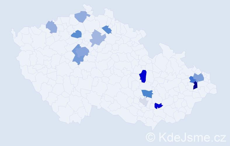 Příjmení: 'Gray', počet výskytů 32 v celé ČR