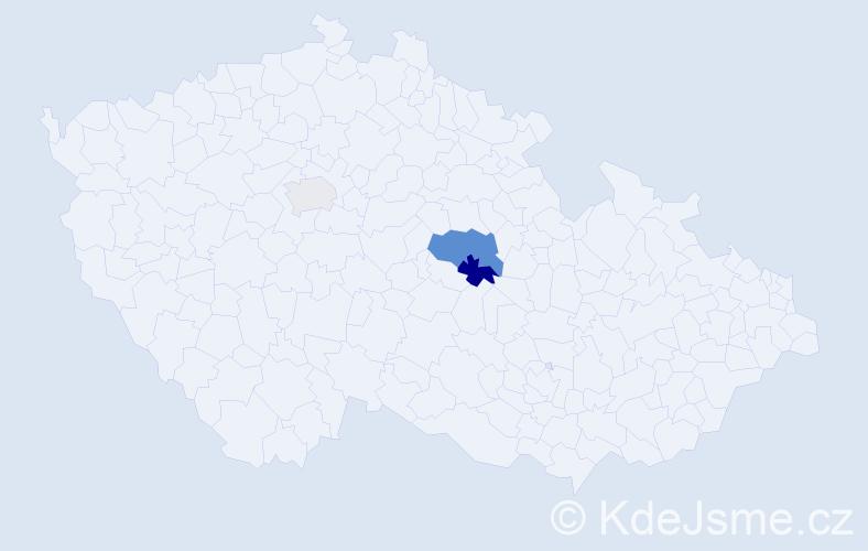 Příjmení: 'Enőkl', počet výskytů 6 v celé ČR