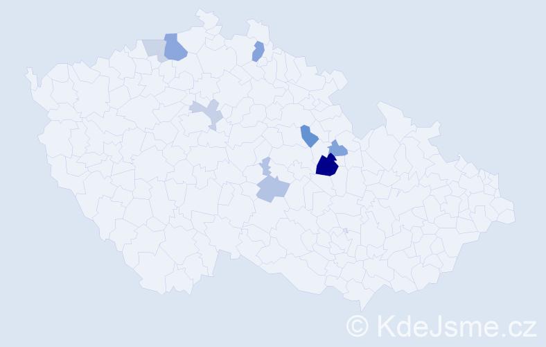 Příjmení: 'Bäuchelová', počet výskytů 14 v celé ČR