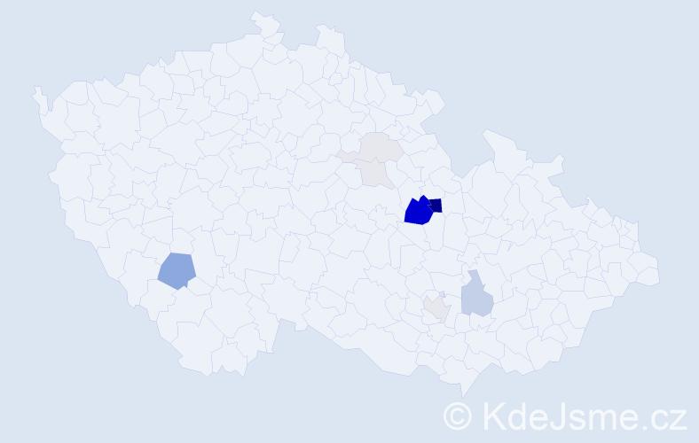 Příjmení: 'Bálská', počet výskytů 28 v celé ČR