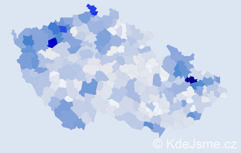 Příjmení: 'Kováčová', počet výskytů 3162 v celé ČR