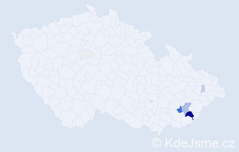 Příjmení: 'Fiodor', počet výskytů 16 v celé ČR