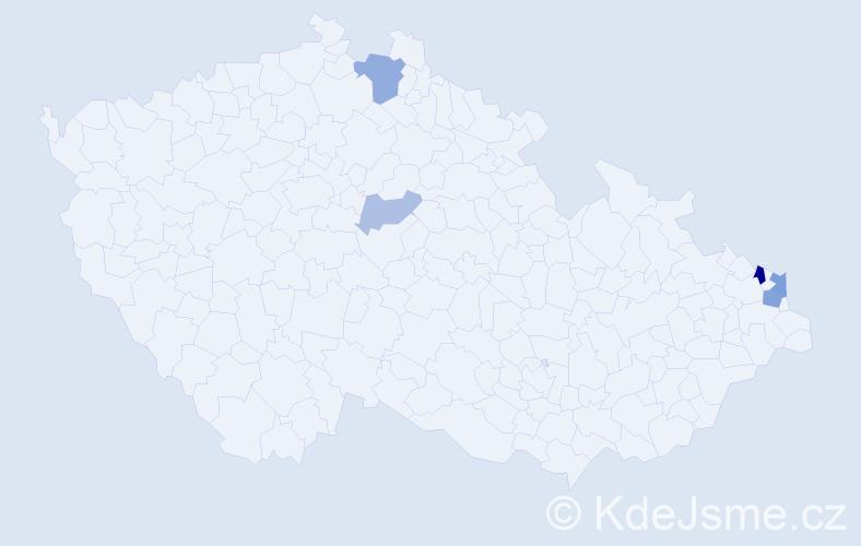Příjmení: 'Čáliková', počet výskytů 10 v celé ČR