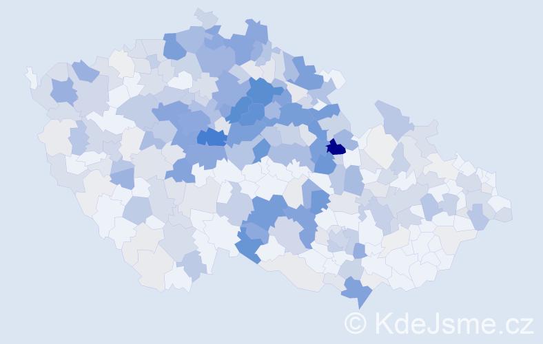 Příjmení: 'Javůrková', počet výskytů 1383 v celé ČR