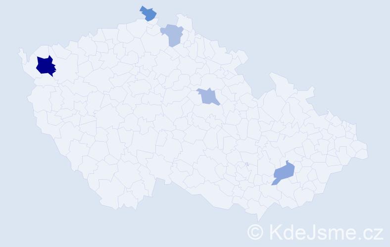 Příjmení: 'Bublinec', počet výskytů 9 v celé ČR