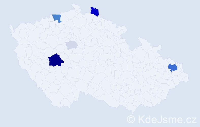 Příjmení: 'Konštiaková', počet výskytů 13 v celé ČR
