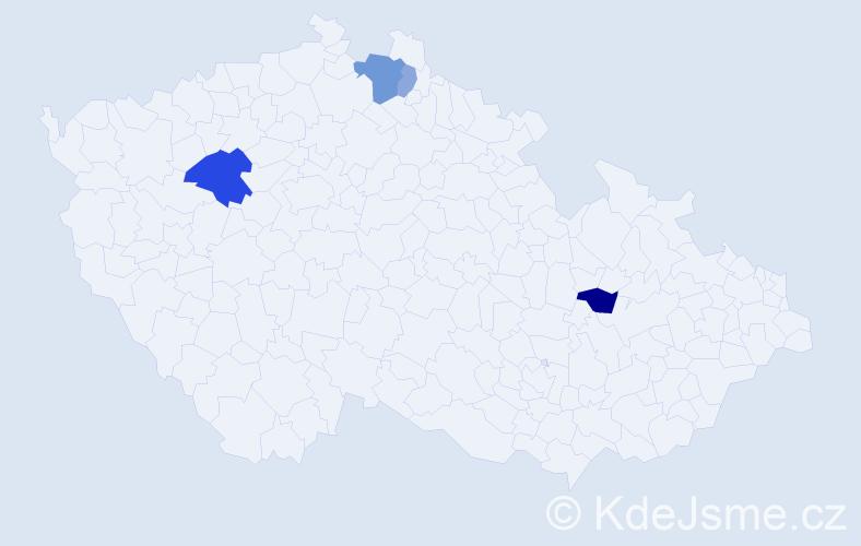 Příjmení: 'Deskopová', počet výskytů 9 v celé ČR
