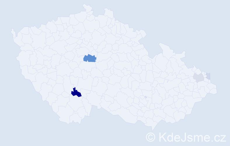 Příjmení: 'Hatoš', počet výskytů 11 v celé ČR