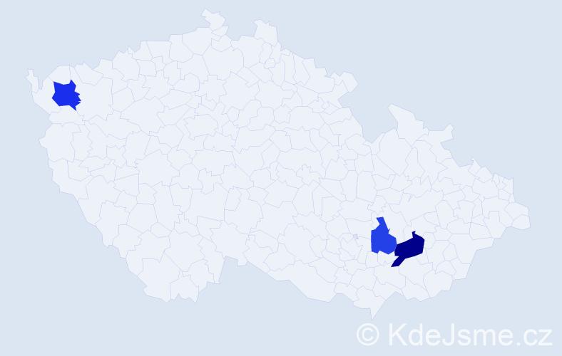 Příjmení: 'Óváry', počet výskytů 9 v celé ČR