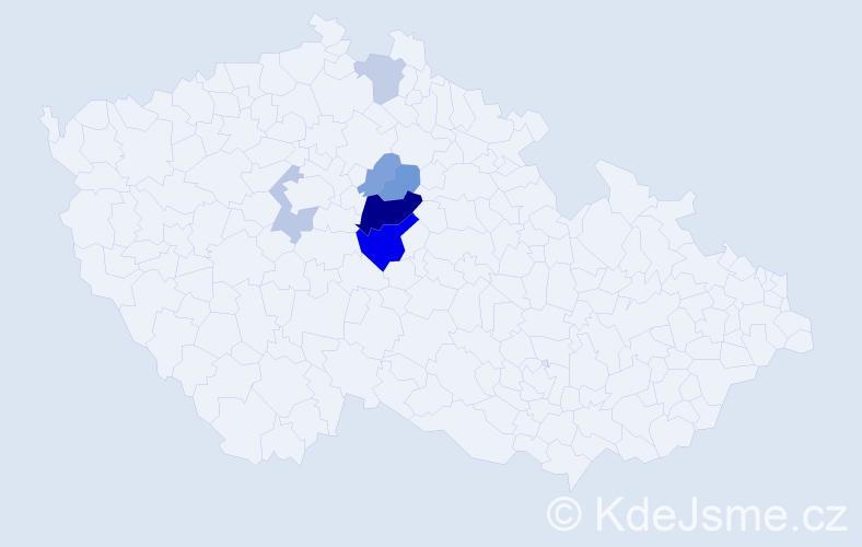 Příjmení: 'Dejdová', počet výskytů 15 v celé ČR
