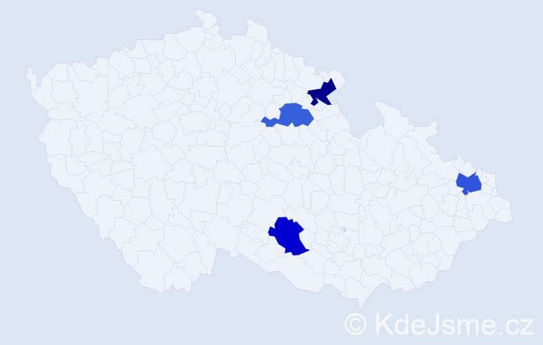 Příjmení: 'Černikovská', počet výskytů 5 v celé ČR