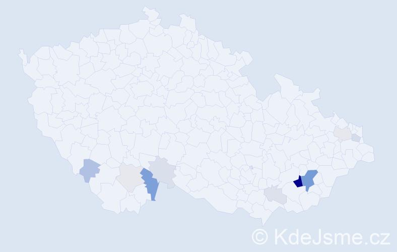 Příjmení: 'Klhůfková', počet výskytů 37 v celé ČR