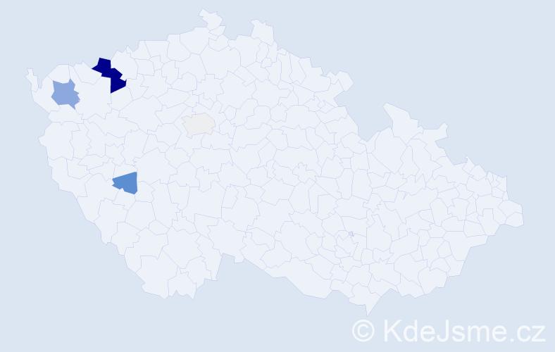 Příjmení: 'Ďurkovský', počet výskytů 14 v celé ČR