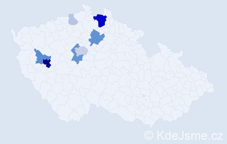Příjmení: 'Feřtová', počet výskytů 33 v celé ČR