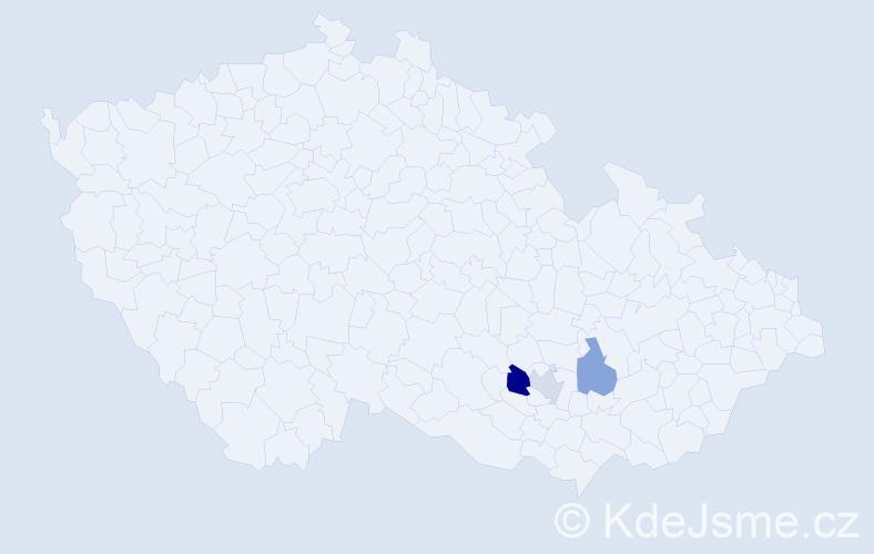 Příjmení: 'Blatan', počet výskytů 4 v celé ČR