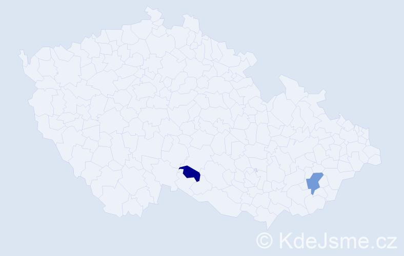 Příjmení: 'Elgartová', počet výskytů 3 v celé ČR