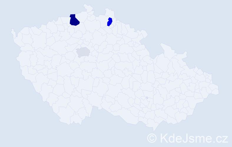 Příjmení: 'Čvirk', počet výskytů 11 v celé ČR