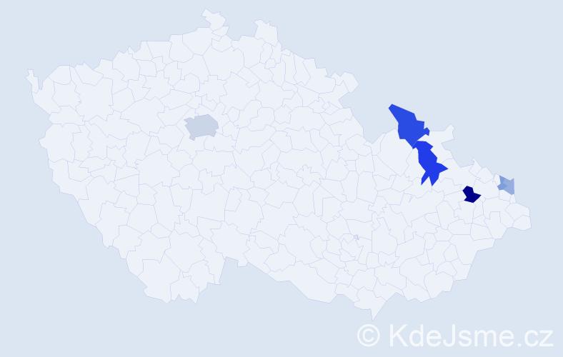 Příjmení: 'Kapila', počet výskytů 12 v celé ČR