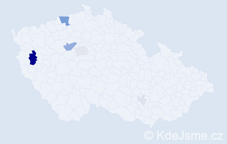 Příjmení: 'Lampl', počet výskytů 10 v celé ČR