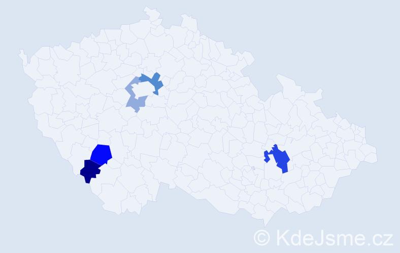 Příjmení: 'Chasová', počet výskytů 9 v celé ČR