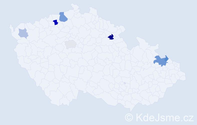Příjmení: 'Babijová', počet výskytů 14 v celé ČR