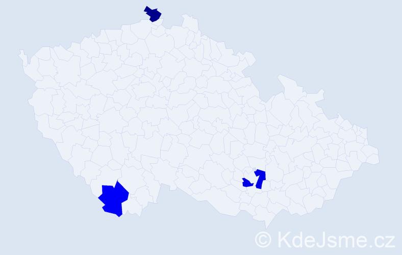 Příjmení: 'Brech', počet výskytů 7 v celé ČR