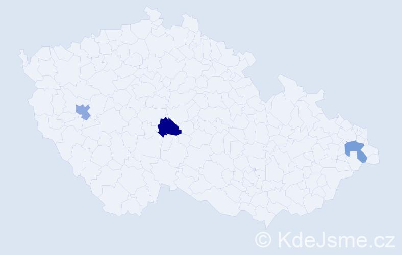 Příjmení: 'Chlebinová', počet výskytů 3 v celé ČR