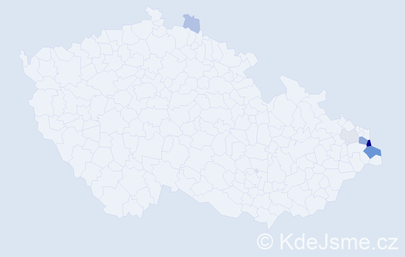 Příjmení: 'Chowaniecová', počet výskytů 22 v celé ČR