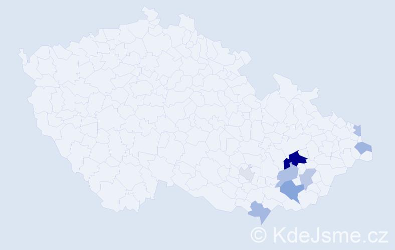 Příjmení: 'Ižová', počet výskytů 16 v celé ČR