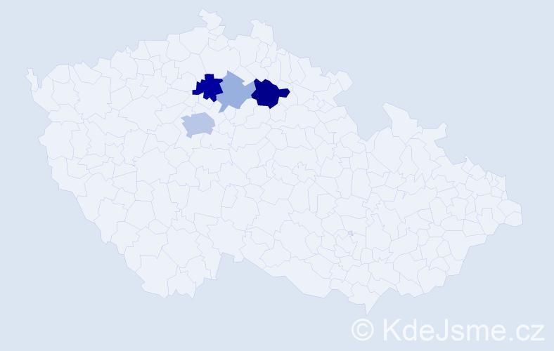 Příjmení: 'Kolumpek', počet výskytů 35 v celé ČR