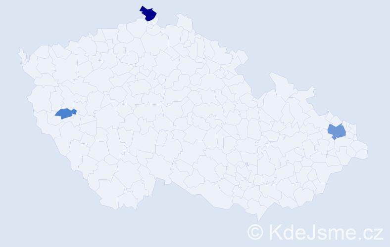 Příjmení: 'Čigašová', počet výskytů 10 v celé ČR