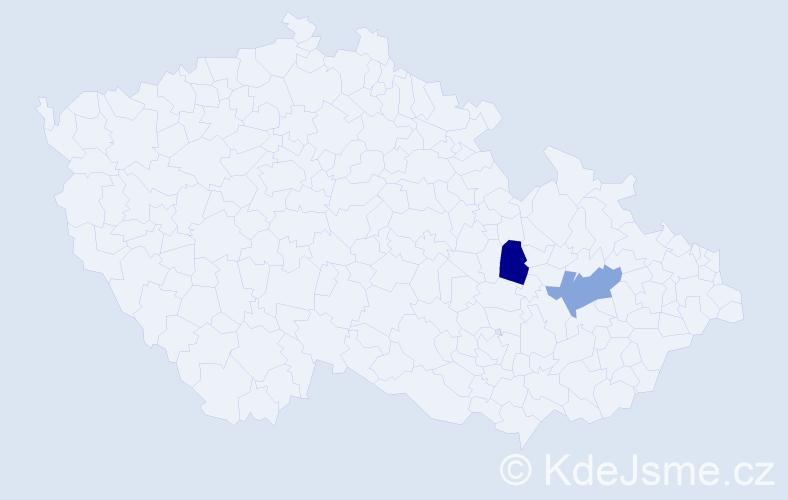 Příjmení: 'Wrba', počet výskytů 2 v celé ČR
