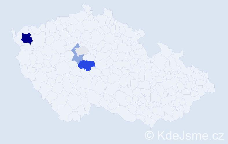 Příjmení: 'Gondíková', počet výskytů 8 v celé ČR