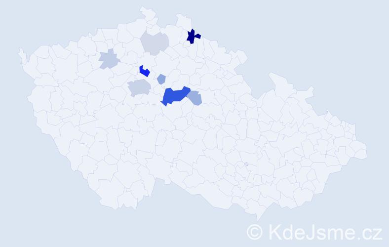 Příjmení: 'Batyiová', počet výskytů 37 v celé ČR
