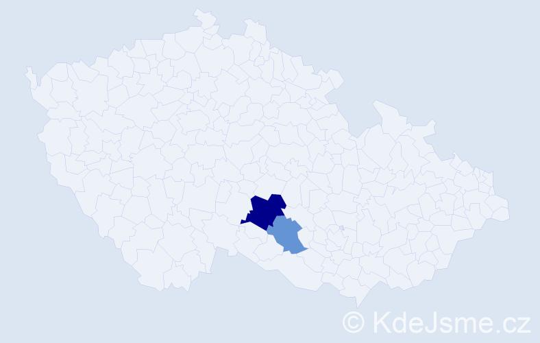 Příjmení: 'Lafuntál', počet výskytů 4 v celé ČR